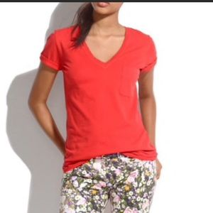 Madewell Hi-line Orange Pocket T-Shirt